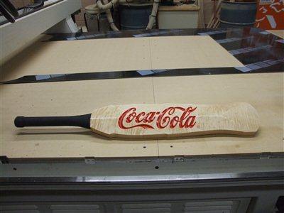 Coke Bottle Cricket Bat J Murphy Cnc Woodworking