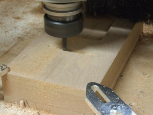 Carving process-#8-Roughing the shapes using .25 ball end mill.