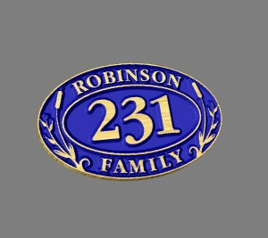 Robinson family sign-Relief carving style